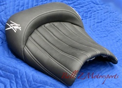 Custom Hayabusa Pin & Tuck Black/Chrome Front Seat