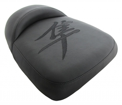 """New Image"" Custom Shaped/Covered Hayabusa Passenger Seat w/Black Embroidering"