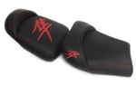 Custom Hayabusa Black/Red Front & Rear Seats
