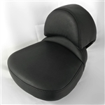 Custom Shaped/Covered Hayabusa Rear Passenger Seat w/Built In Backrest