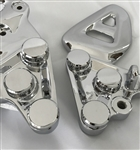 Hayabusa Chrome Smooth Front Peg Bracket Mounting Bolts & Covers