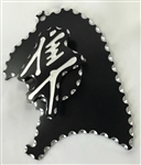 99-07 Hayabusa Black Anodized Silver Ball Cut 3D Engraved Front Sprocket & Speed Sensor Cover