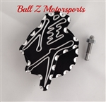 Hayabusa Huge 3D Black/Silver Engraved & Ball Cut Front Sprocket Speed Sensor Cover