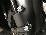4-PC Hayabusa Custom Chrome 3D Engraved & Ball Cut Front Fender Bolts w/Stainless Steel Threads