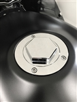 Smooth Chrome 3D Hex Hayabusa/GSXR 600/750/1000 Gas Cap