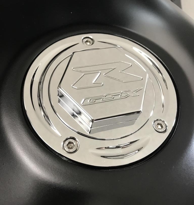 2011  HAYABUSA GAS CAP CHROME 3-D ENGRAVED BILLET