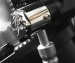 Hayabusa Chrome 3D Hex Brake & Clutch Mastercylinder Line Banjo Bolt Covers w/Ball Cut Edges