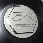 Custom 08+ Hayabusa GSXR 600/750/1000 Chrome Smooth Engraved Gas Cap Fuel Lid