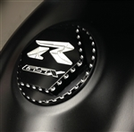 Custom 08+ Hayabusa GSXR 600/750/1000 Black/Silver Engraved Gas Cap Fuel Lid