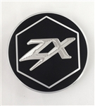 Custom Black/Silver ZX14 ZX10 Z1000 3D Hex Engraved Gas Cap Fuel Lid