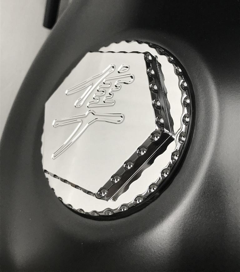 GSXR 600 750 1000 2008 2019 Hayabusa Black Gas Cap Fuel Lid With Ball Cut Edges