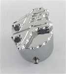 Hayabusa Chrome 3D Pocket Engraved Kickstand Center Nut Cover w/Ball Cut Edges