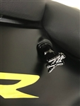 Hayabusa Custom Black/Silver 3D Engraved & Ball Cut Cargo Bolts w/Stainless Steel Threads
