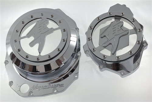 Hayabusa Chrome Smooth 3D See Through Clutch Cover & Stator