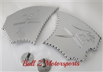 Hayabusa Chrome Engraved & Ball Cut Side Heel Guards