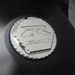 Custom 99-07 Hayabusa GSXR 600/750/1000 Chrome Engraved Gas Cap Fuel Lid w/Ball Cut Edges
