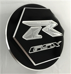 Custom 99-07 Hayabusa GSXR 600/750/1000 Black/Silver Engraved Gas Cap Fuel Lid