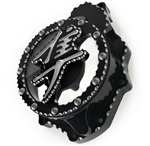Hayabusa Custom Black/Silver 3D Ball Cut See Through Clear Stator Cover