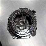 Custom Chrome Ball Cut GSXR 600/750/1000 Clear See Through Stator Cover
