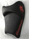 Hayabusa Custom Shaped & Covered Black Front Driver Seat w/Red Embroidering