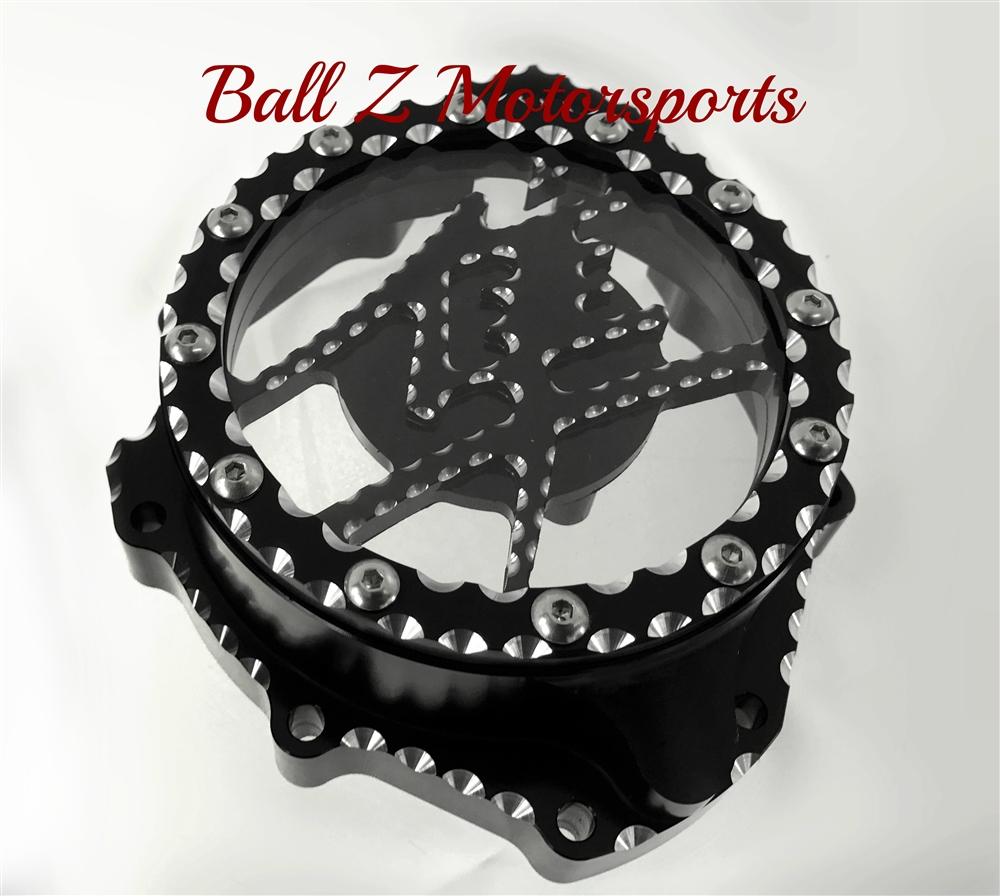Custom Black/Silver Ball Cut Hayabusa See Through Stator