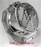 Custom Chrome Ball Cut Hayabusa Huge Metal Kanji See Through Clutch Cover