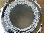 Custom Chrome Ball Cut Hayabusa See Through Clutch Cover