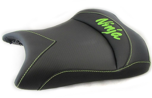 New Image Custom Zx 6r Or Zx 10r Front Seat Black Carbon Fiber