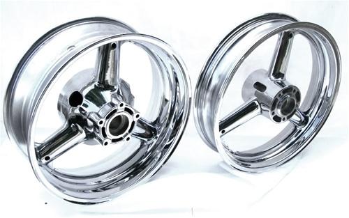 Chromed Stock/OEM Hayabusa Front/Rear Wheels