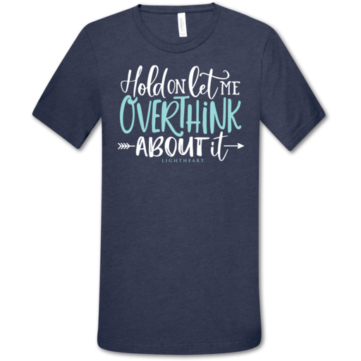 LH Overthink About It Front Print-Heather Navy