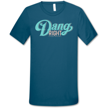 LH Dang Right front print-Deep Teal