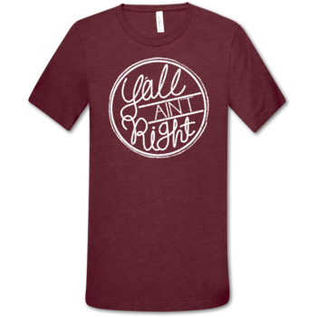 LH Y'all Ain't Right Tee Front Print - Cardinal Triblend