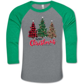 LH Merry Christmas Trees BB Tee-Prem. Heather/Envy