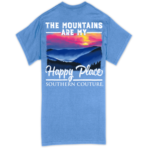 SC Classic Mountains Happy Place-Carolina Blue