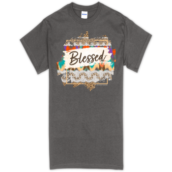 SC Soft Pattern Blessed Front Print-Charcoal