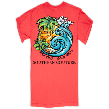 SC Comfort High Tides Good Vibes-Neon Red Orange