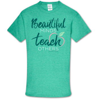 SC Soft Beautiful Minds Front Print-Heather Seafoam