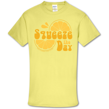 SC Soft Squeeze the Day Front Print-Cornsilk