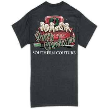 SC Classic Merry Christmas Pups-Dark Heather