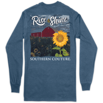 SC Classic Rise & Shine on Long Sleeve-Indigo