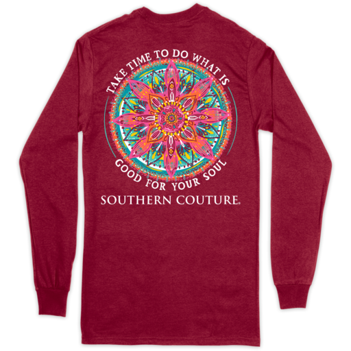 SC Classic Good For Soul on Long Sleeve-Cardinal