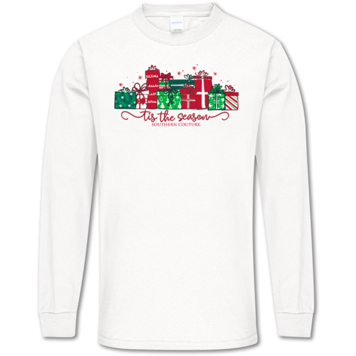SC Soft Tis the Season Front Print on LS-White
