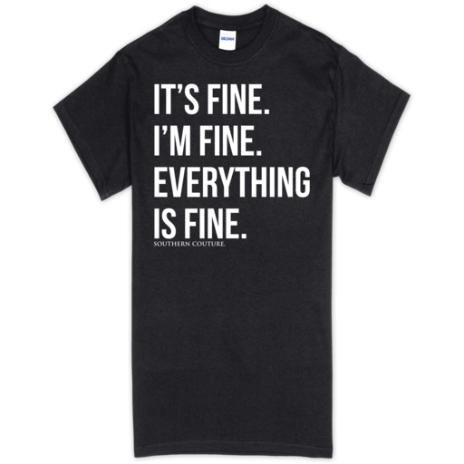 SC Soft Everything is Fine Front Print-Black