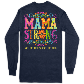 SC Classic Mama Strong on Long Sleeve-Navy