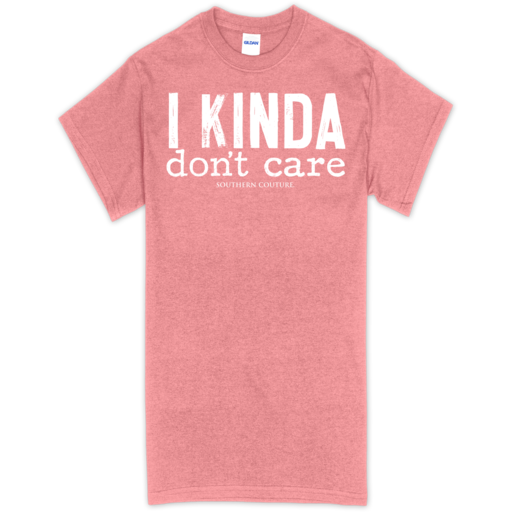 SC Soft Kinda Don't Care front print-Htr. Coral Silk