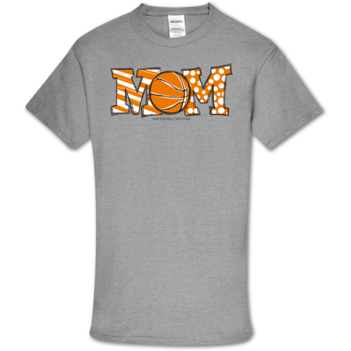 SC Soft Basketball Mom front print-Sport Grey