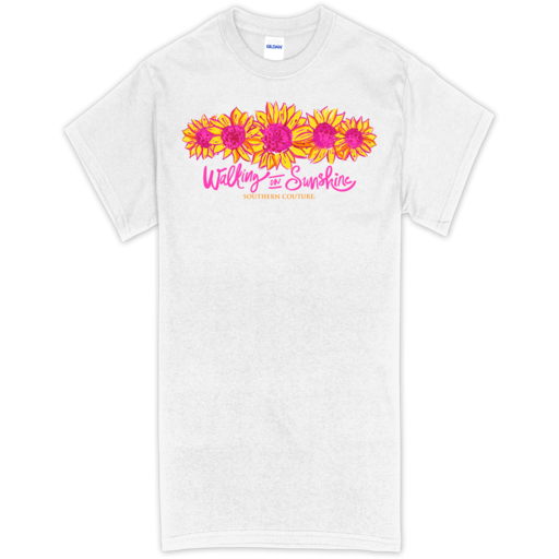 SC Soft Walking on Sunshine front print-White