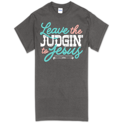 SC Soft Judgin' to Jesus front print-Charcoal