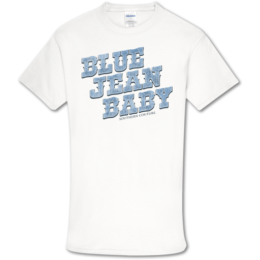 SC Soft Blue Jean Baby front print-White