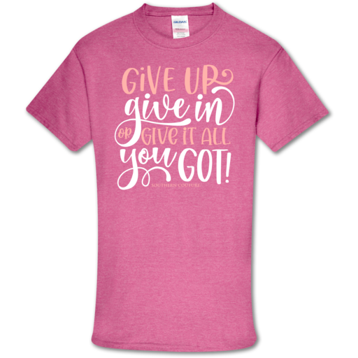 SC Soft Give Up Give In front print-Heather Heliconia